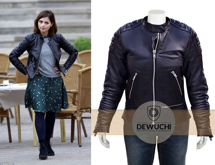 """Dewuchi.com Created Inspire from classic sci-fi TV-Series """"Doctor Who'', Jenna Coleman Doctor Who Clara Oswald Jacket. Jenna Coleman was introduced in the eleventh and twelfth season, as Clara Oswald. She was then appreciated for her acting ability, and showed her characteristic delight by wearing the amazing outfit. This coat is the best determination to improve your impression and style in your persona.  #jennacoleman #doctorwho #girls #hot #sexy #fashion #beautiful #wear #femalejackets"""