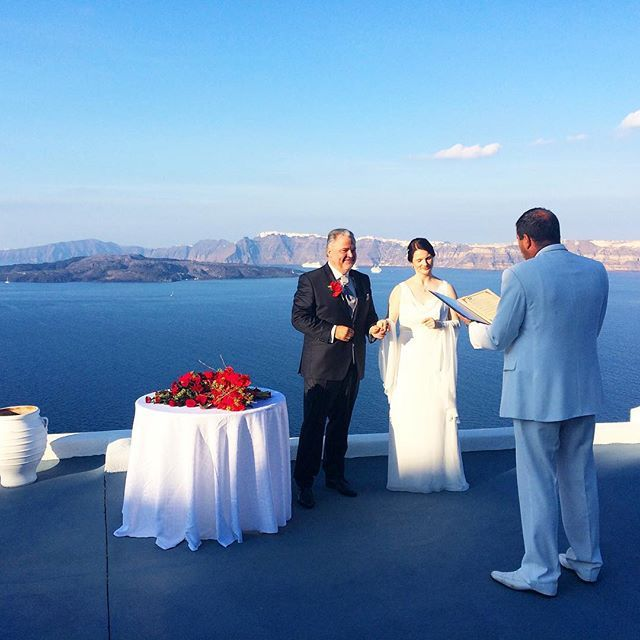 Just you and your loved one! #AstarteSuites #Santorini #Wedding