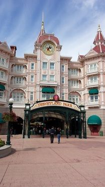 Entrance to Disneyland Paris. I want to go see this place one day. Please check out my website thanks. www.photopix.co.nz