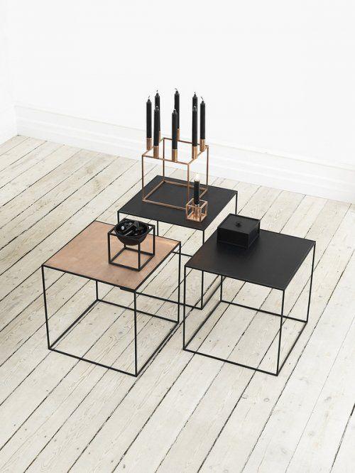 Klassisch-minimalistische Beistelltische #Wohnidee #Klassiker