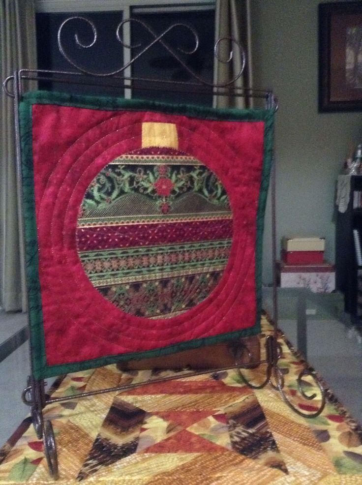 Mom's Christmas mini quilt
