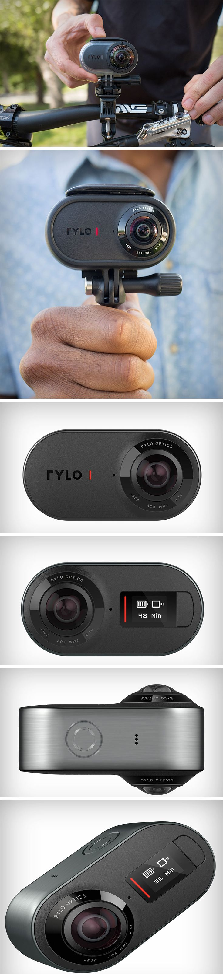 Rylo is a groundbreaking camera designed with powerful software that makes it easy for anyone to shoot, edit, and share incredibly smooth, cinematic video. To make sure you don't miss a moment of adventure, this little guy has up to 60 minutes of continuous recording time and has a removable microSD to capture every move you make. BUY NOW!