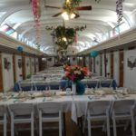 Horizontal rows, sitting 6 guests per side. Alice in Wonderland Theme Reception - RSVP Event Rentals Penticton