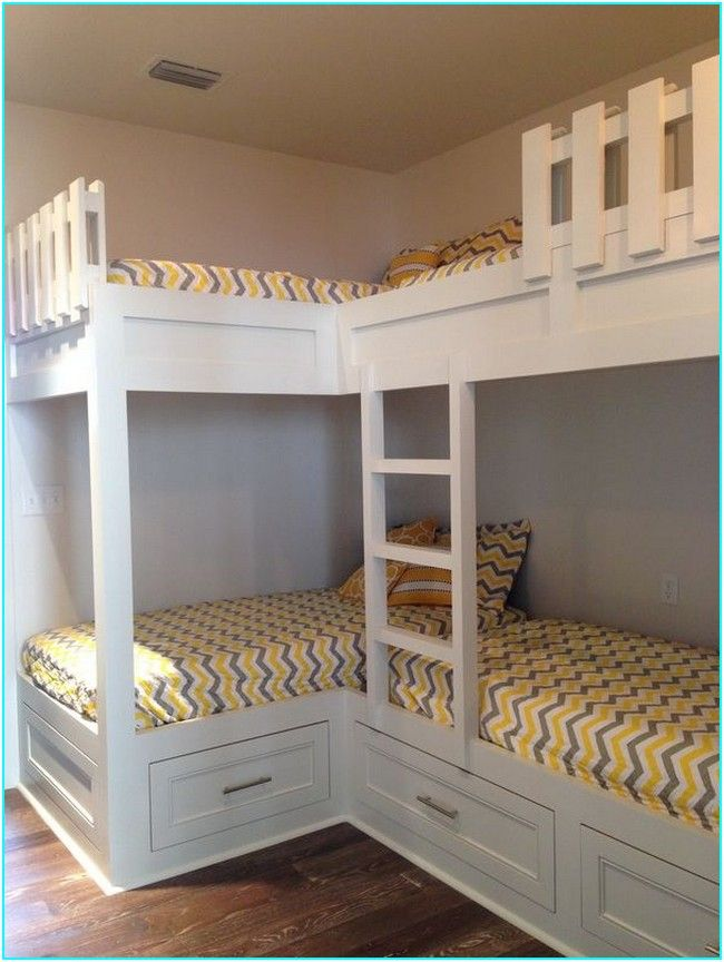 40 Funny Bunk Beds Kids For Your Child Bunk Bed Designs Corner Bunk Beds Bunk Bed Rooms