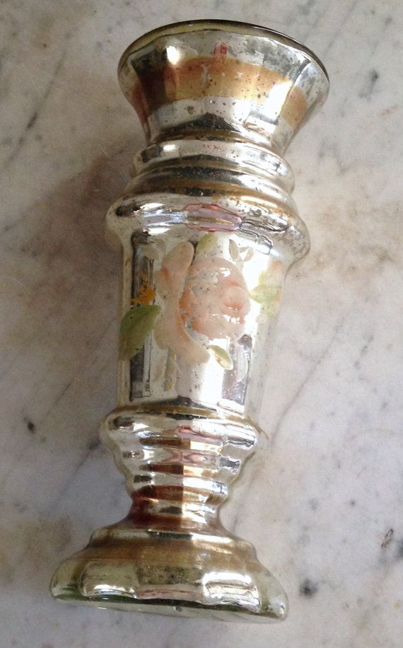 Antique Mercury Gl Vase Circa 1900 Large By Histoireancienne More Shabby Cottage 2 Pinterest And