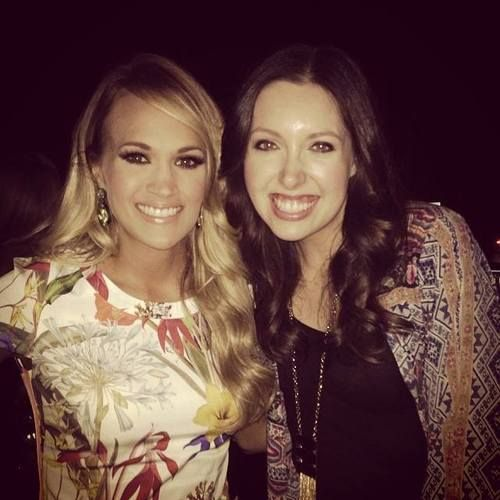 Francesca Battistelli and Carrie Underwood