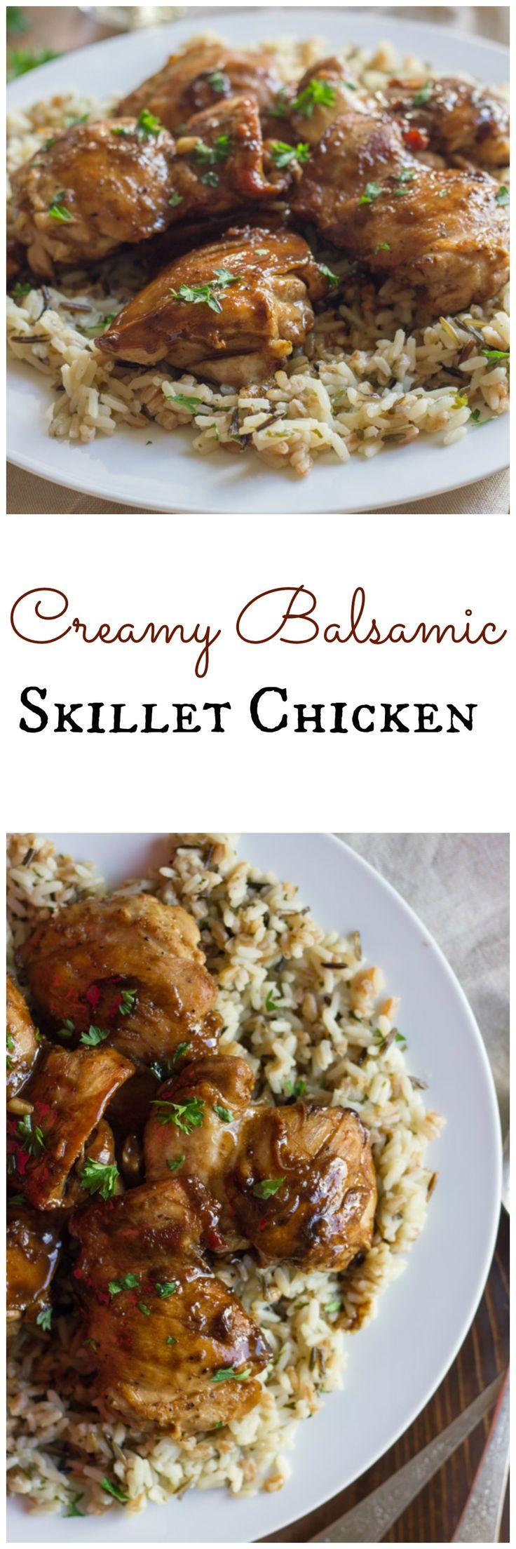 Creamy Balsamic Skillet Chicken