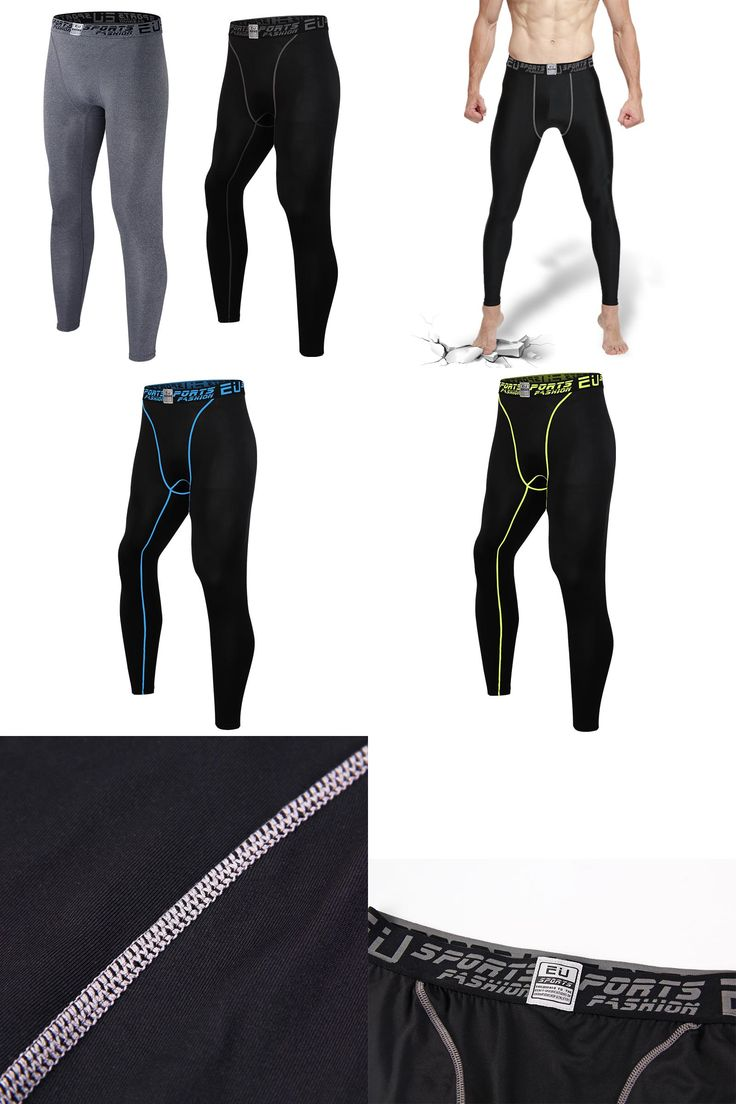 [Visit to Buy] Men's pro basketball tights sports leggings pants running fitness elastic compression pants Sweatpants Bodybuilding Gym Trousers #Advertisement