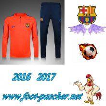 Promo Survetement Foot Enfant FC Barcelone Rouge 2016/2017 Replica Pas Chere