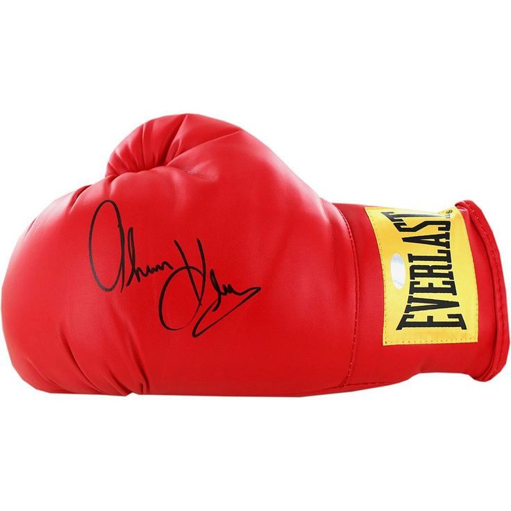 Steiner Sports Thomas Hearns Autographed Everlast Boxing Glove, Red