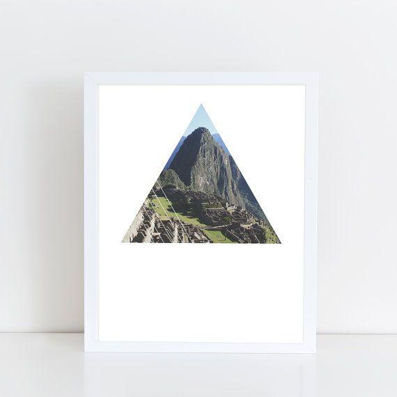 Machu Picchu Art Print  Inspirational indigenous by deificusArt