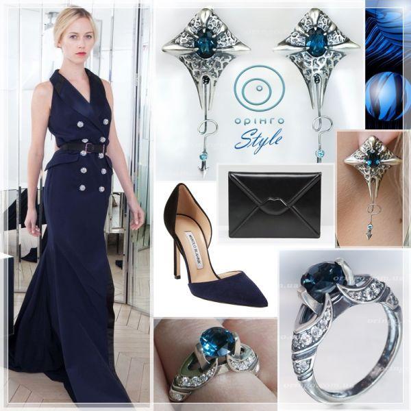 """#Оринго-style. """"Лондон"""":    - Синий очень универсальный цвет, а несколько его оттенков во главе с темными, делают топаз беспроигрышным вариантом для любого образа, будь то пляжный сарафан, деловой костюм, или вечерний наряд...    http://oringo.com.ua/forum/london"""