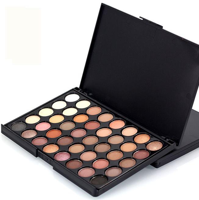 Profesional Mode Makeup Smoky Matte Tahan Air Eye Shadow Set 40 Warna Eyeshadow Glitter Mewah Makeup Palette