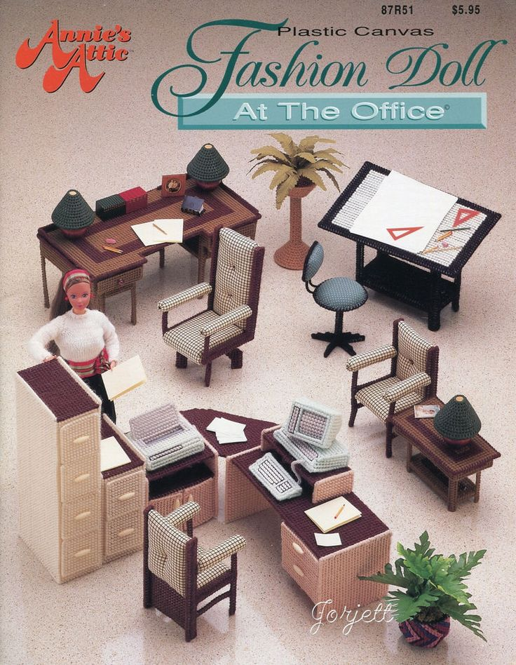 Fashion Doll At The Office Annie 39 S Plastic Canvas Patterns Fit Barbie Dolls The Office
