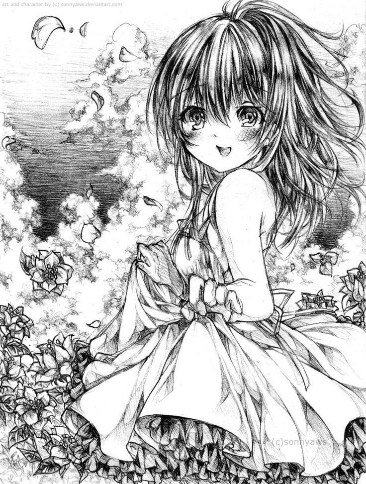 Mejores 80 imágenes de Coloriages Manga en Pinterest | Páginas para ...