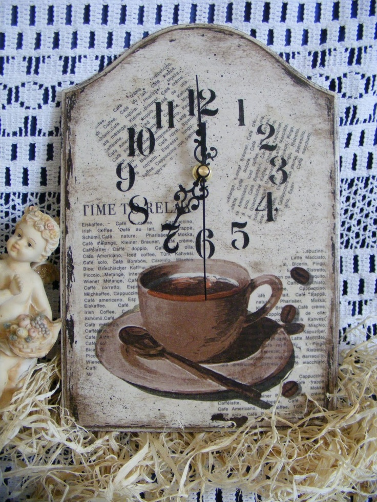 For Lucy: decoupage clock
