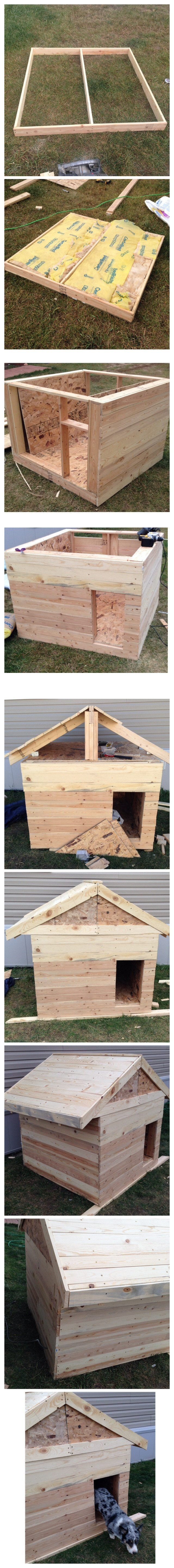 Building a heated and insulated dog house with household tools - Imgur