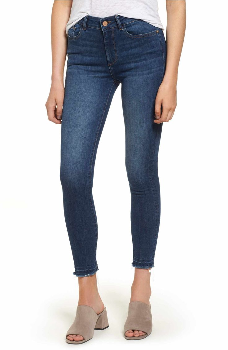 Main Image - DL1961 Ryan High Waist Petite Skinny Jeans (Incognito)
