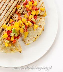 Quesadillas with ground pork.
