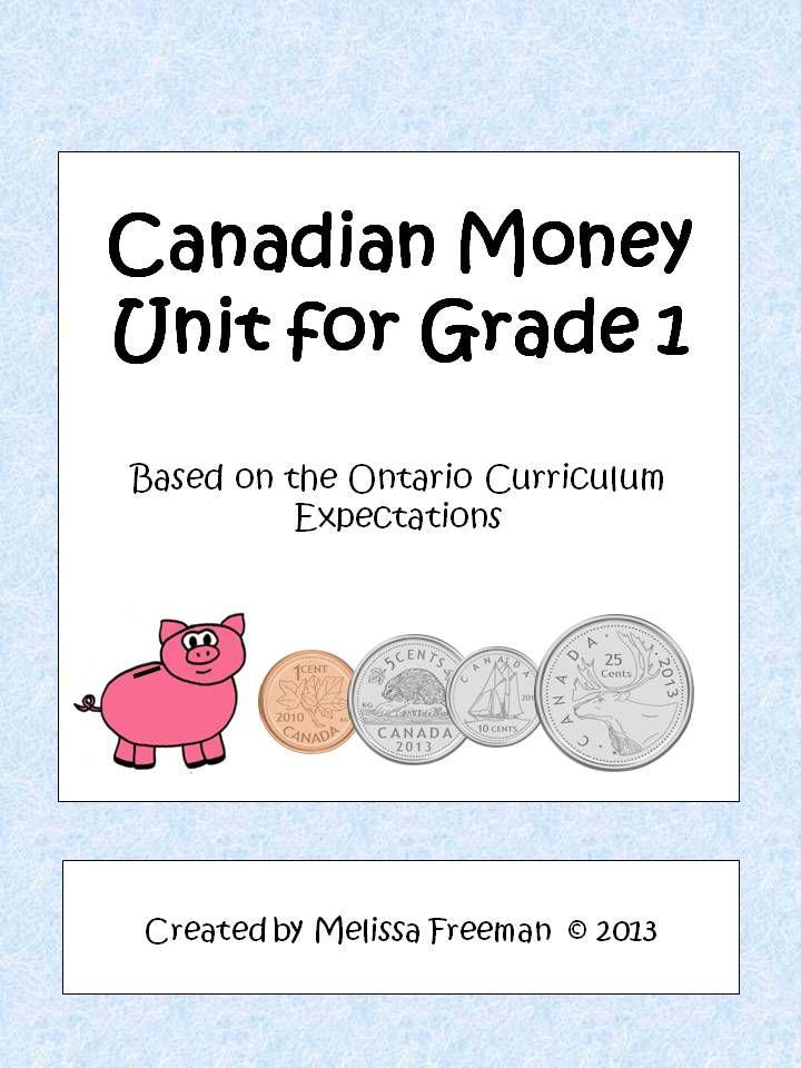 Grade 1 math worksheets canadian money