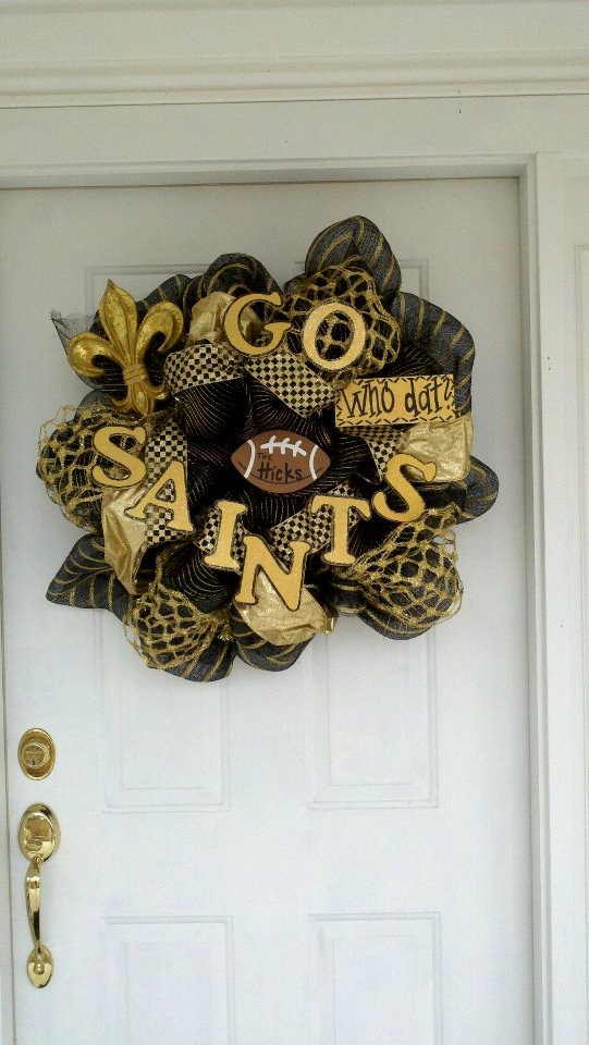 Saints Wreath- I can make that for WAYYYY less!!