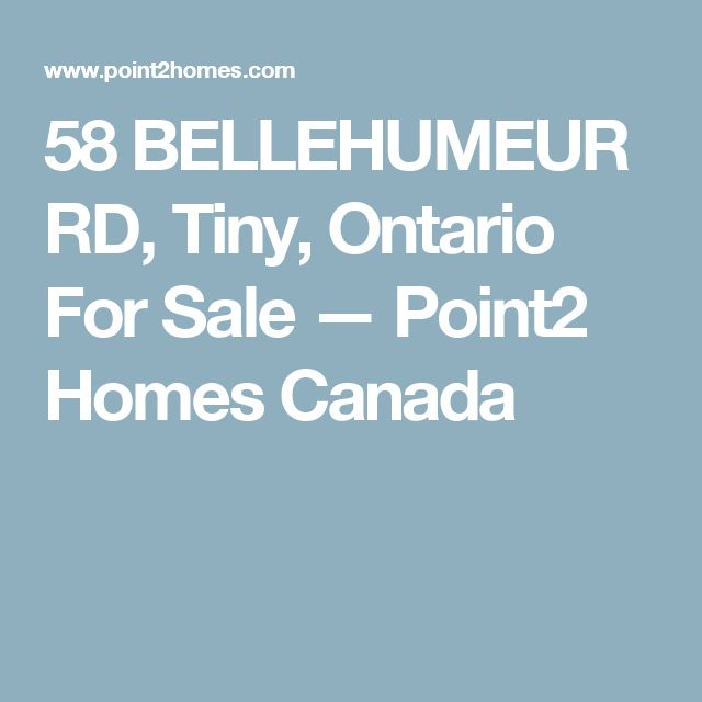 58 BELLEHUMEUR RD, Tiny, Ontario For Sale — Point2 Homes Canada