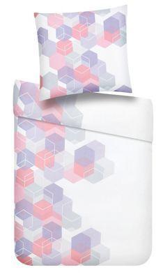 Bettwäsche aus 100% Baumwolle-Renforcé in der Farbe Rosa. B/L: ca. 135/200cm und 80/80cm.