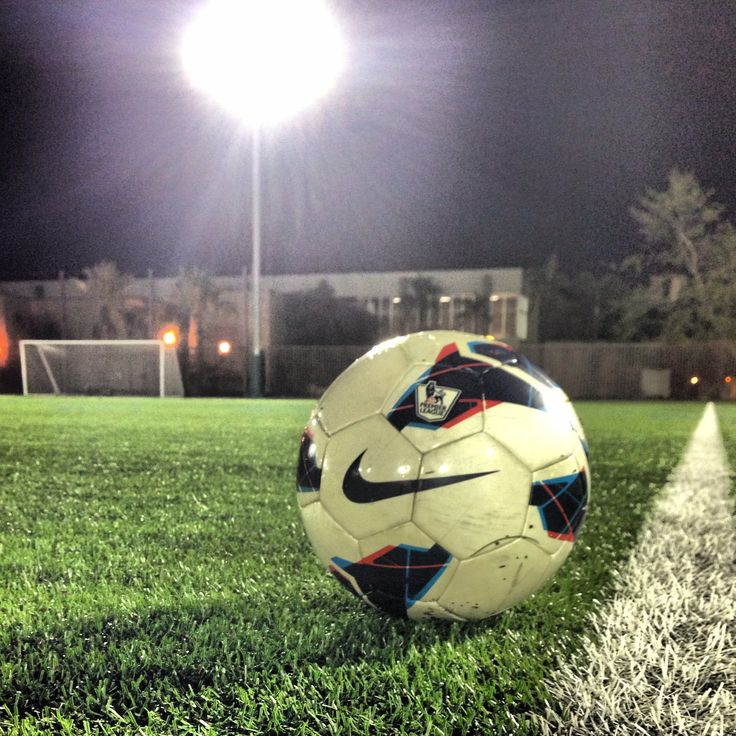Soccer at night- I love when you look up and its raining and you can see all the raindrops coming down @ you