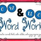 This packet provides students with practice with ew, ue vowel pairs through interactive journal pages, centers, and no prep response pages.  The interactive journal page has two assessment options. The first option assesses students on words found inside the phonics word work packet.