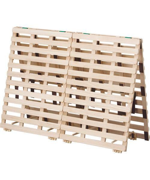 折りたたんでそのまま布団干しもできるスノコベッド(ランパーレ2)