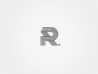 I like how this R is created using tyre marks in the form of a track. This is…