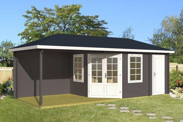 gartenhaus 40mm monaco mit freisitz 7 16x3m gartenh tte holz freisitz pavillon gartenpavillon. Black Bedroom Furniture Sets. Home Design Ideas