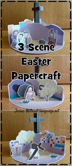 Witnesses to Crucifiction / Easter paper spinner craft   #Jesuswithoutlanguage