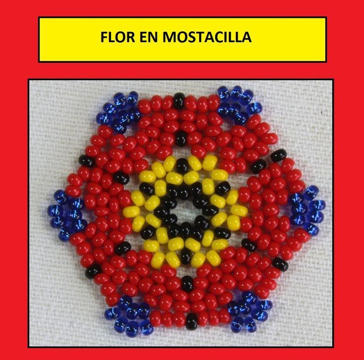 Como hacer una flor en mostacilla checa nuevo