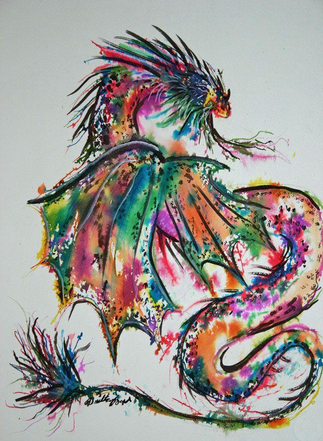 ink dragon 2 by yappyliltiger.deviantart.com on @DeviantArt