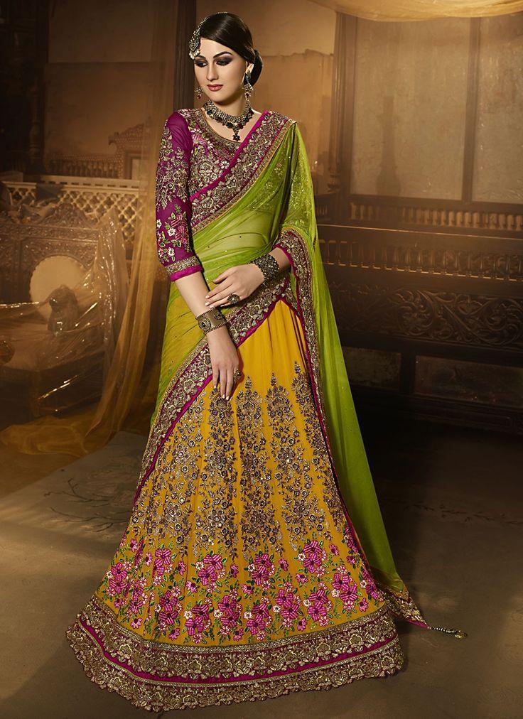 Buy Winsome Georgette A Line Lehenga Choli #weddinglehenga #bridallehenga #weddingfashion #occaison #fashion #marriageseason #weddingplanner #fashionable #glamor #glamorous #traditional #traditionalfashion