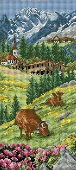 Cross stitch alps
