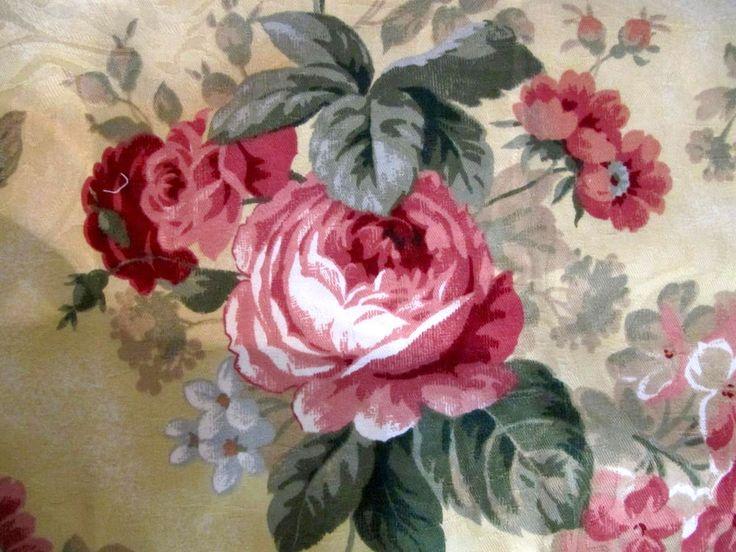 Cabbage Cottage Roses Fabric Fl 62x28 In Upholstery Decorator Screenprintdesignbyrichloom