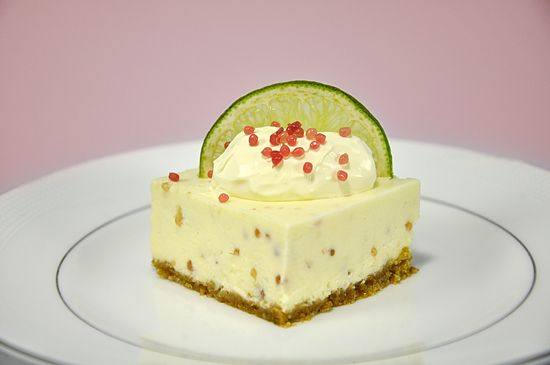 Finger Lime and White Chocolate Cheesecake | Freshburst Finger Limes  Use fingerlime as a garnish for lime cheesecake or pie. Or maybe in a Gin and Tonic.