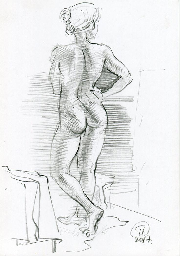 sketch, female figure 2017
