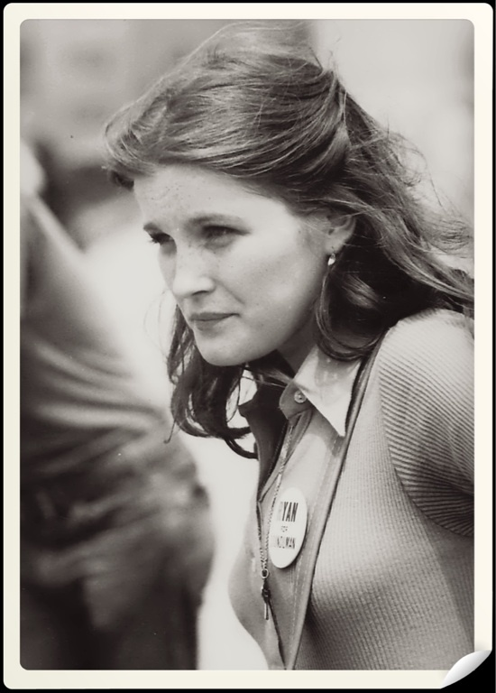 Kate Mulgrew on the set of Ryan's Hope 1975