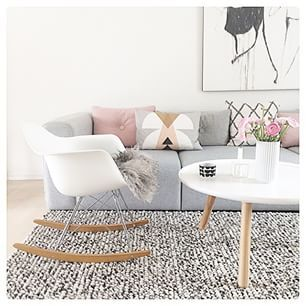 InteriorInspiration: Team soft grey with pastel pink and white for a ultra #girly feel. Great for the leading lady in your life.