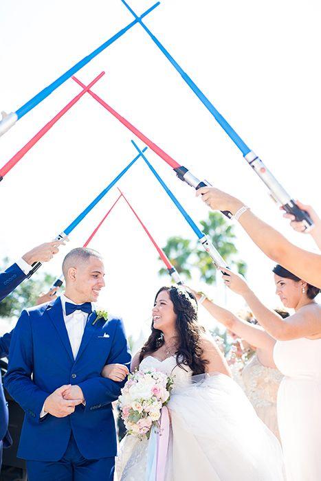 Star Wars inspired ceremony exit at Disney's Wedding Pavilion
