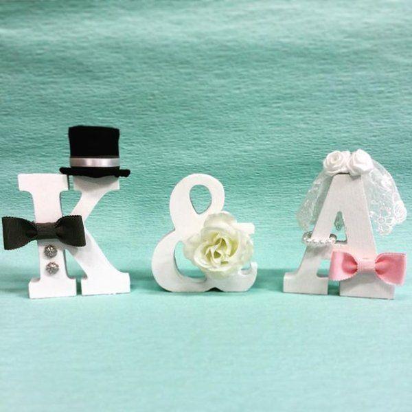 プレ花嫁必見!ウェルカムスペースを彩るイニシャルオブジェの画像の詳細です。