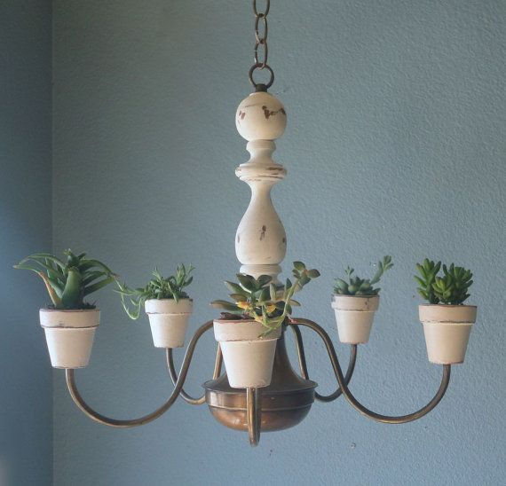Shabby Chic Hanging Plantelier  PreOrder Today by TheArtofChic, $85.00