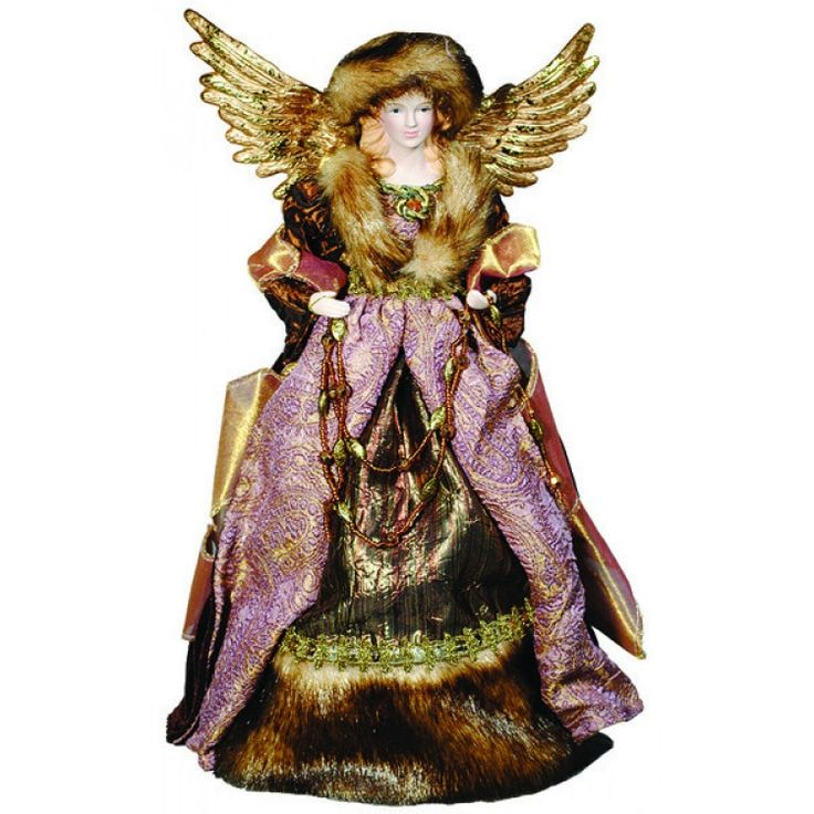 This gorgeous Angel Tree Topper appears ready to brave the elements of winter!: