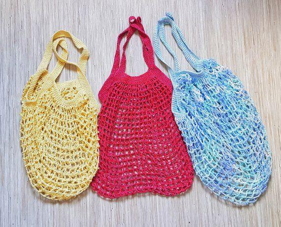 Shopper Crochet bag Tote bag Shopping bag String bag Avoska Shoulder bag