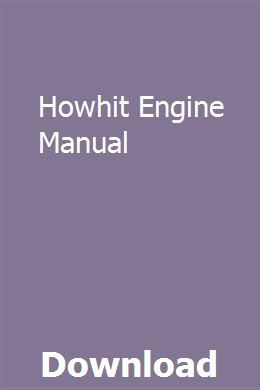 Howhit Engine Manual With Images Repair Manuals Manual Clymer