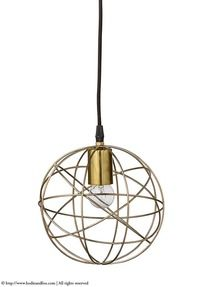 Lily pendant light, Brass