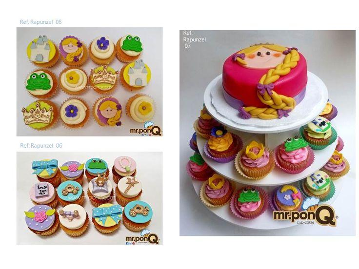 Torta y cupcakes Rapunzel